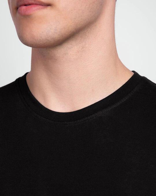 Shop Men's Plain Half Sleeve T-shirt Pack of 2(Black & Parachute Purple)