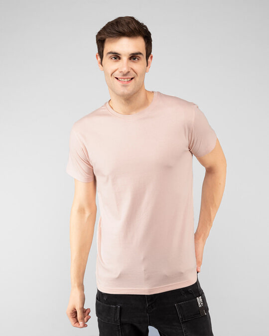 Shop Men's Plain Half Sleeve T-shirt Pack of 2 (Jade Green & Baby Pink)-Design