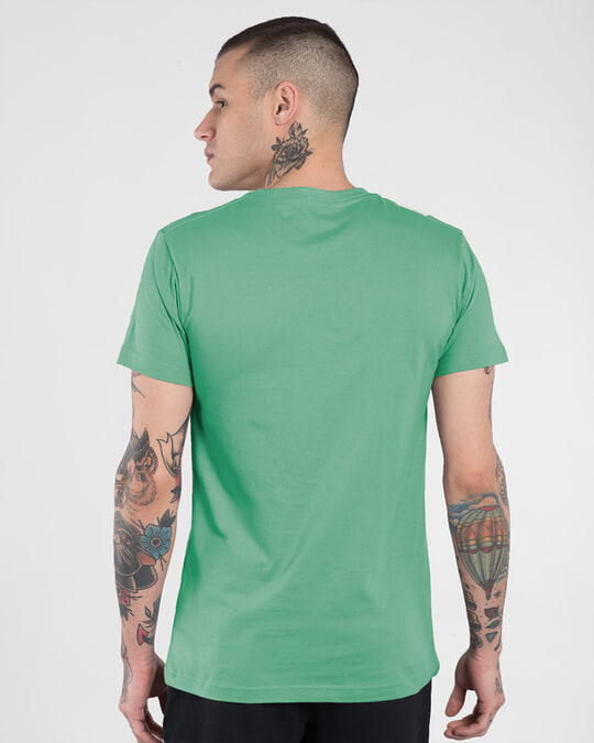 Shop Men's Plain Half Sleeve T-shirt Pack of 2 (Jade Green & Baby Pink)-Full