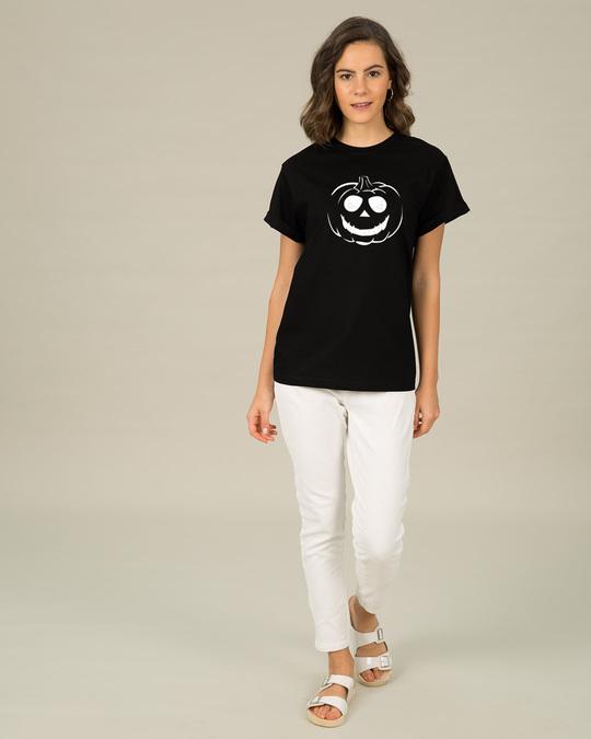 Shop Halloween Pumpkin Glow In Dark Boyfriend T-Shirt -Design