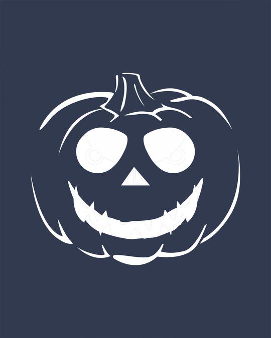 Shop Halloween Pumpkin Glow In Dark Half Sleeve T-Shirt -Full