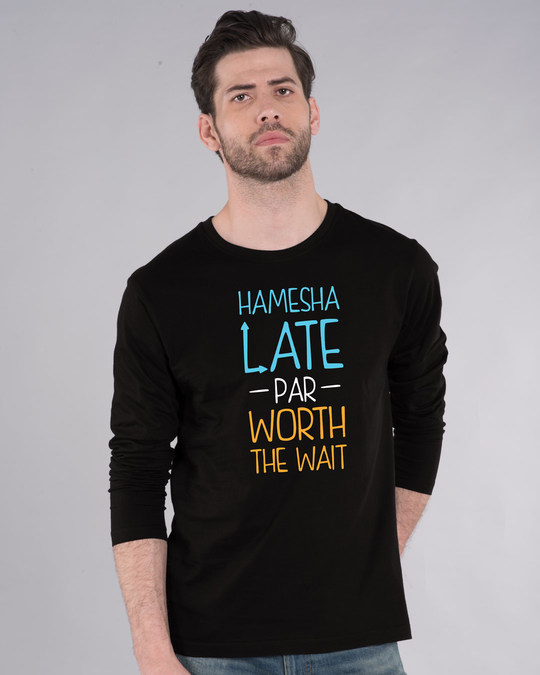 Shop Hamesha Late Full Sleeve T-Shirt-Front