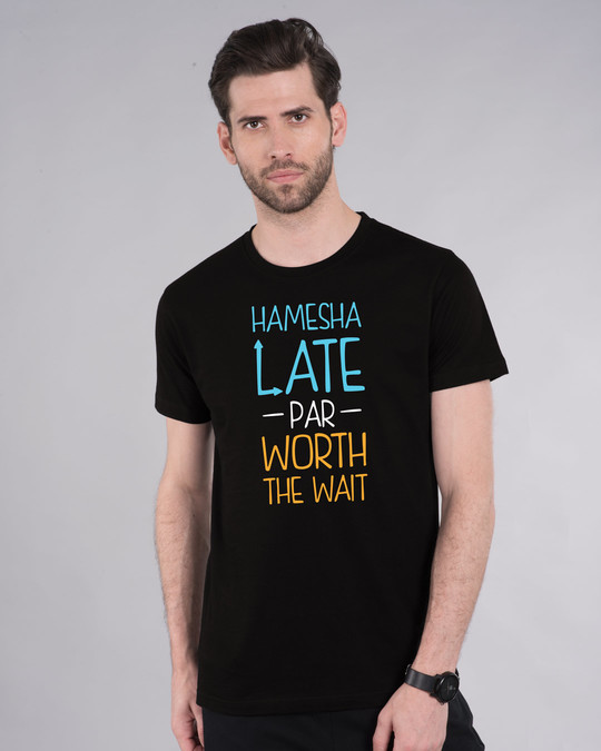 Shop Hamesha Late Half Sleeve T-Shirt-Front