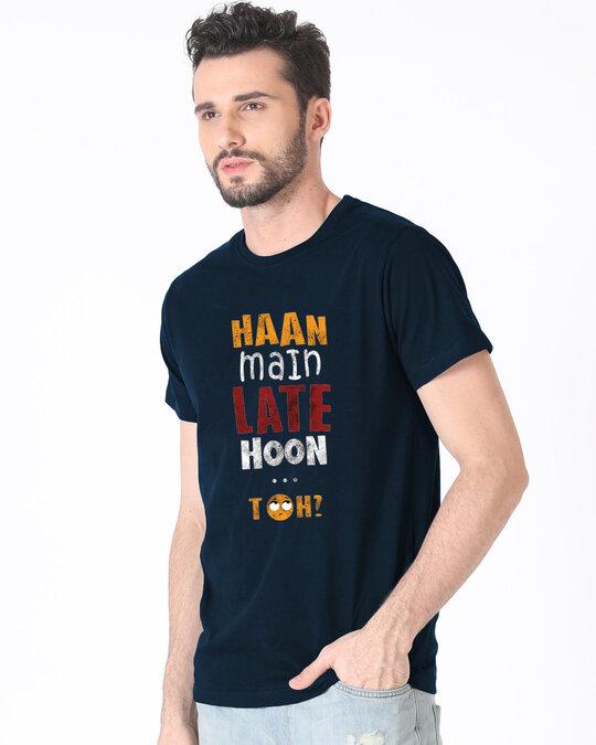 Shop Han Main Late Hoon, Toh? Half T Shirt-Front