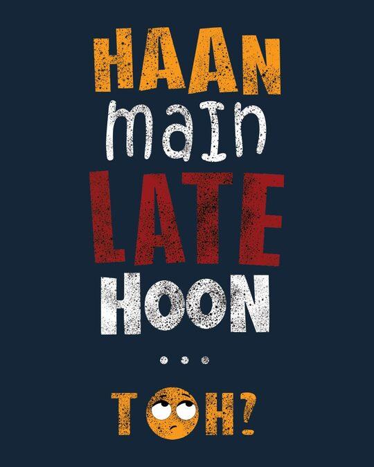 Shop Han Main Late Hoon, Toh? Half T Shirt-Design