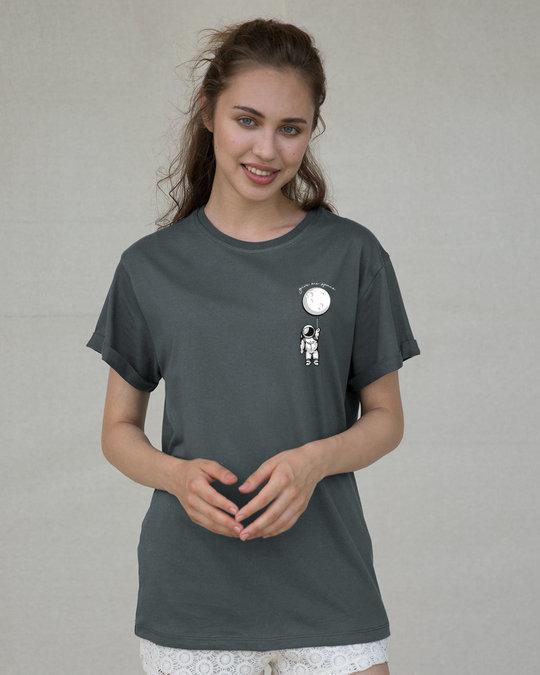 Shop Hanging Astronaut Pocket Boyfriend T-Shirt-Back