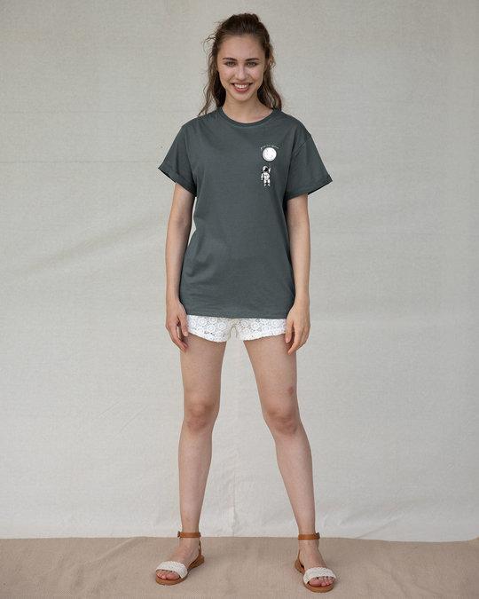 Shop Hanging Astronaut Pocket Boyfriend T-Shirt-Full