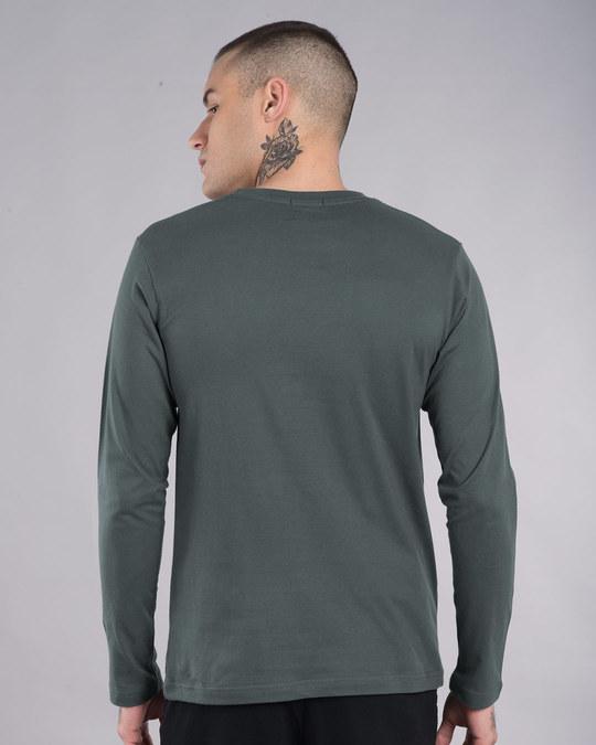 Shop Hanging Astronaut Pocket Full Sleeve T-Shirt-Full