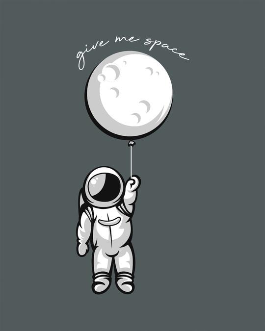 Shop Hanging Astronaut Pocket Full Sleeve T-Shirt
