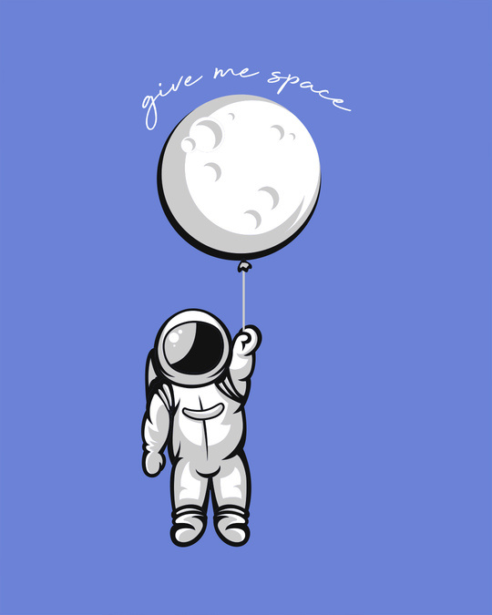 Shop Hanging Astronaut Pocket Half Sleeve T-Shirt