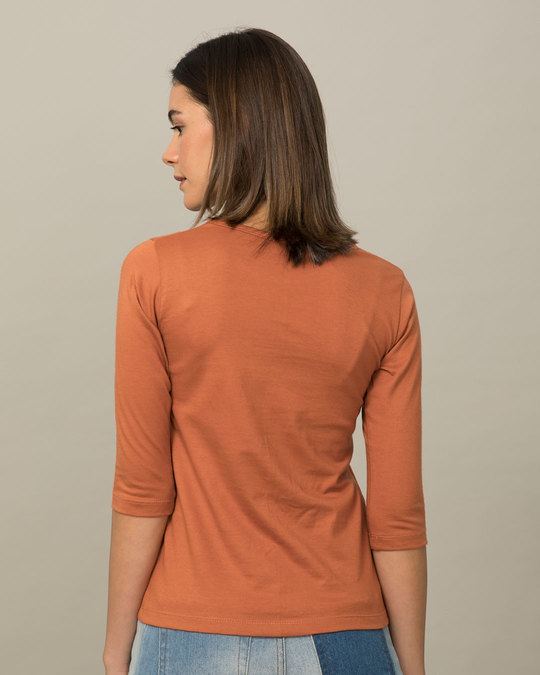 Shop Hangry Bird Round Neck 3/4th Sleeve T-Shirt-Back