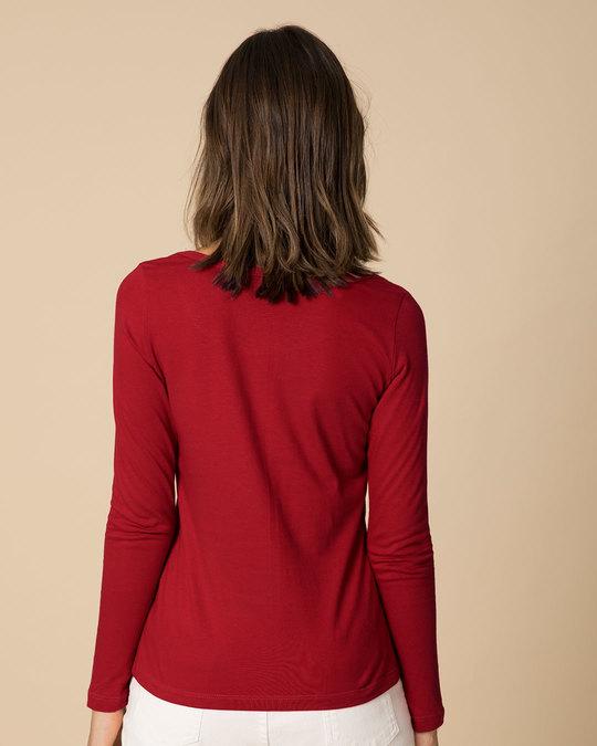Shop Hangry Bird Scoop Neck Full Sleeve T-Shirt-Back