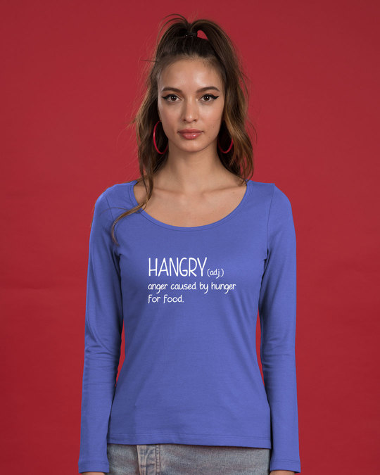 Shop Hangry Scoop Neck Full Sleeve T-Shirt-Back
