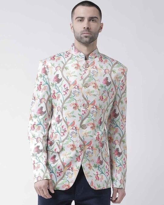 Shop Printed Casual Blazer-Front