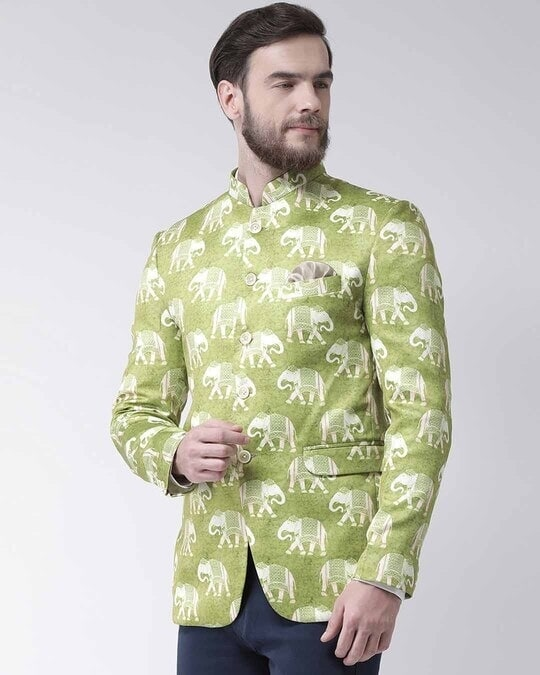 Shop Printed Casual Blazer-Back