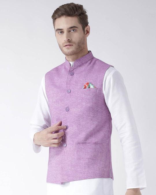 Shop Solid Casual Nehru Jacket-Back