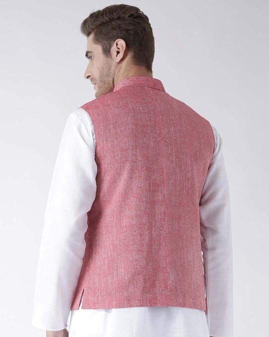 Shop Solid Casual Nehru Jacket-Full