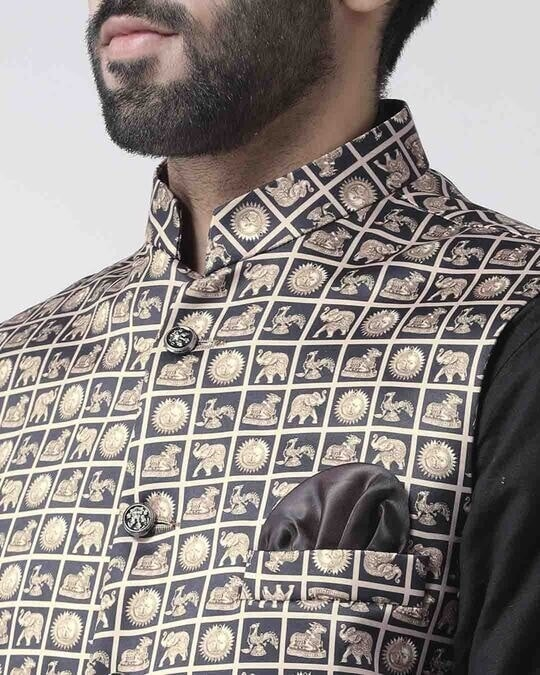 Shop Printed Casual Nehru Jacket