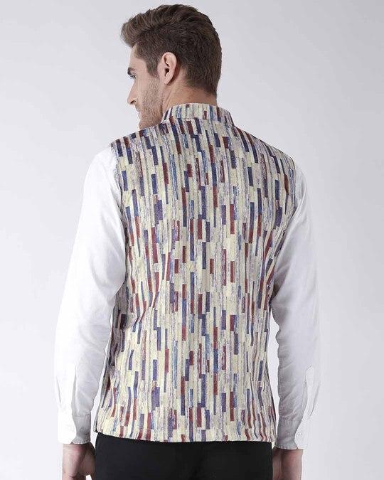 Shop Printed Casual Nehru Jacket-Full