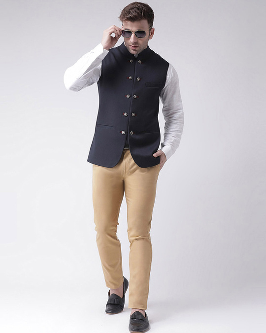 Shop Solid Casual Nehru Jacket-Full