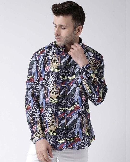 Shop Printed Casual Daily Wear Shirt-Front