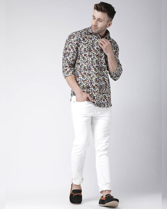 Shop Printed Casual Daily Wear Shirt-Full
