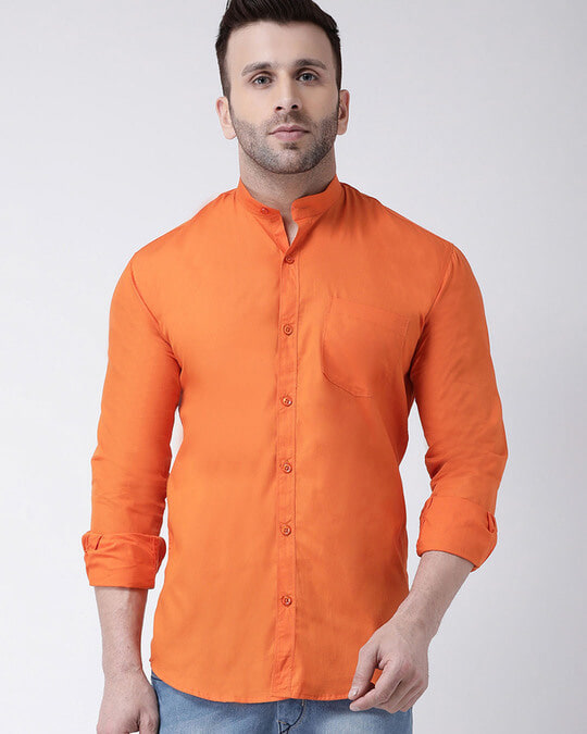 Shop Solid Casual Shirt-Front