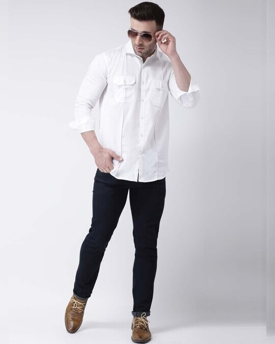 Shop Solid Casual Shirt-Full