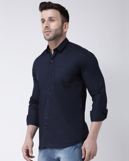 Shop Solid Casual Shirt-Back