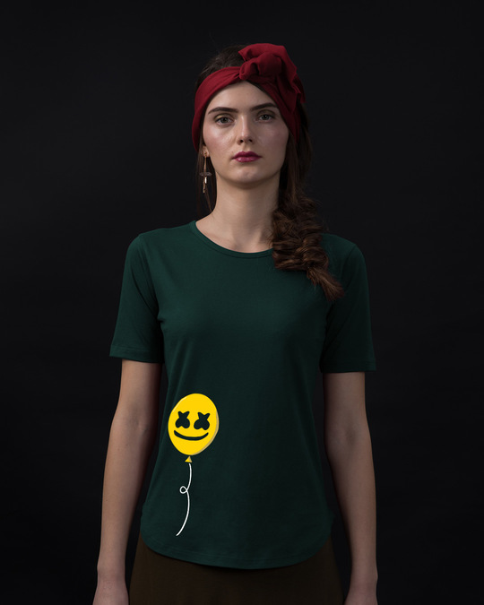 Shop Happier Balloon Basic Round Hem T-Shirt-Front