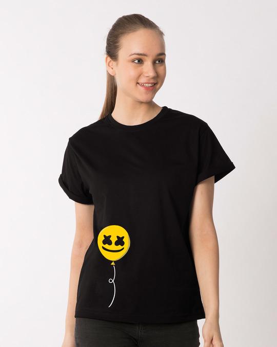 Shop Happier Balloon Boyfriend T-Shirt-Front