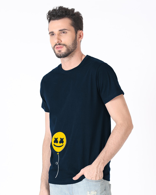 Shop Happier Balloon Half Sleeve T-Shirt-Full