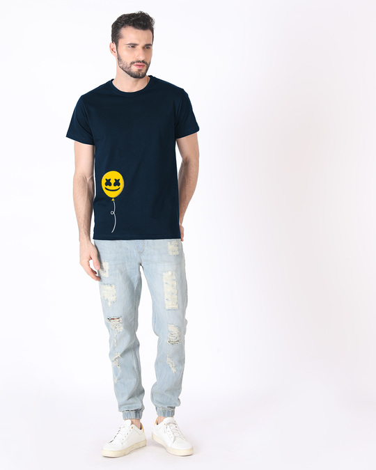 Shop Happier Balloon Half Sleeve T-Shirt