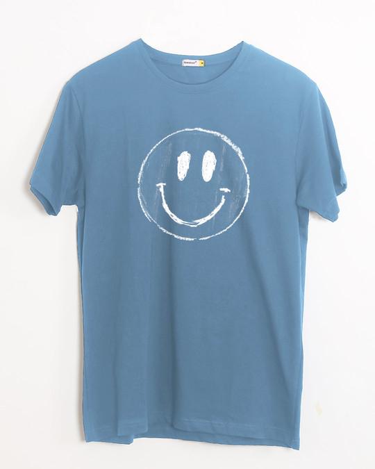 Shop Happier Half Sleeve T-Shirt-Front