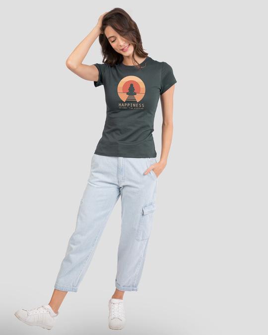 Shop Happiness Circle Half Sleeve T-Shirt Nimbus Grey-Design