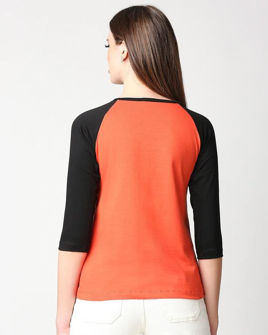 Shop Happiness Colorful 3/4th Sleeve Raglan T-Shirt-Full