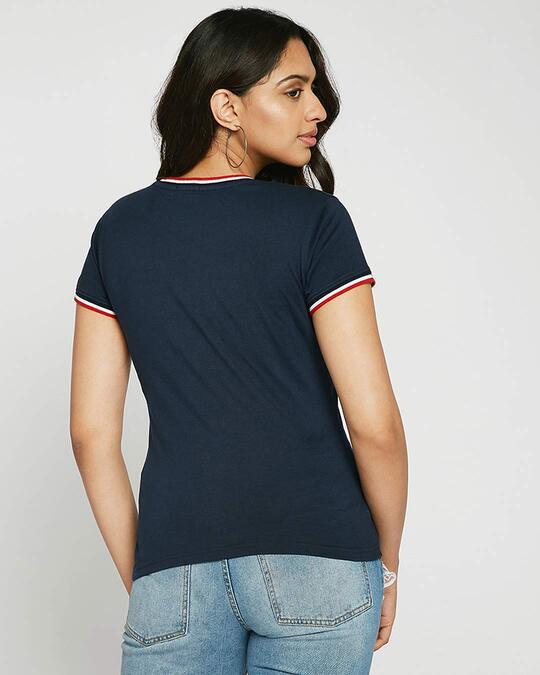 Shop Happiness Colorful Crewneck Varsity Rib H/S T-Shirt Multicolor-Back