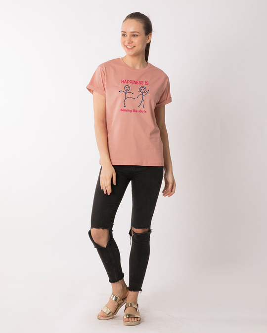 Shop Happiness Is Dancing Boyfriend T-Shirt