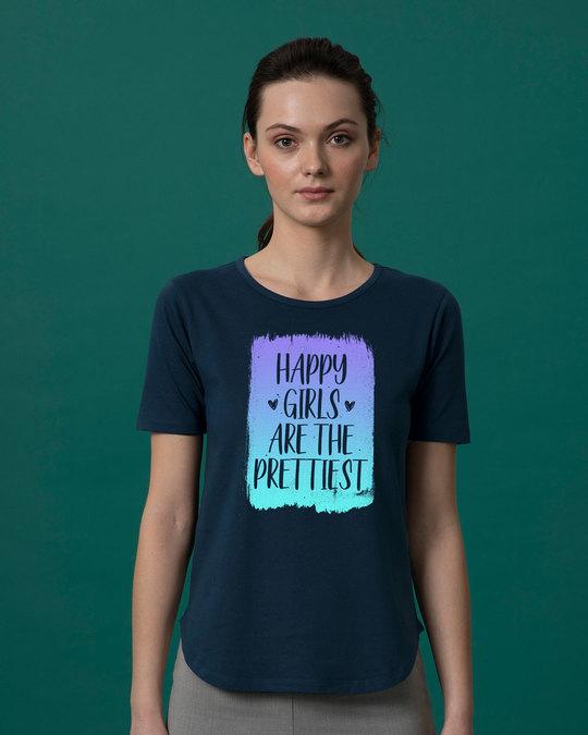 Shop Happy Girls Basic Round Hem T-Shirt-Front