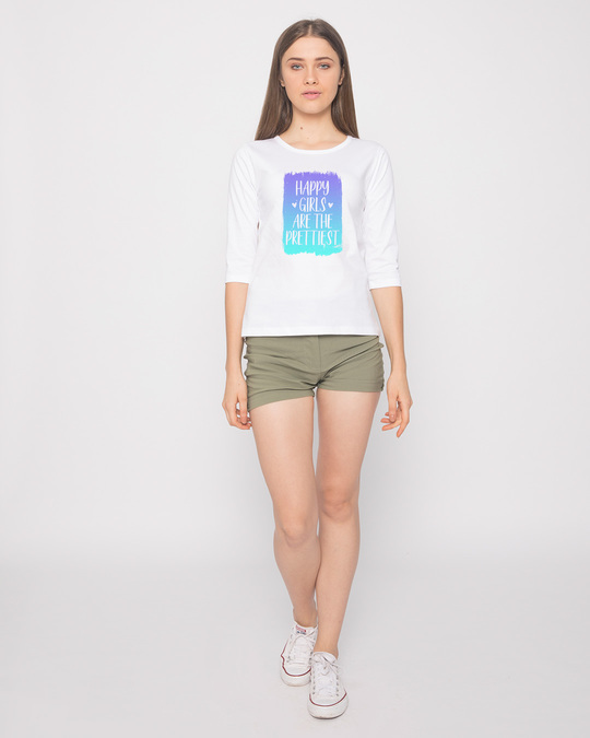 Shop Happy Girls Round Neck 3/4th Sleeve T-Shirt