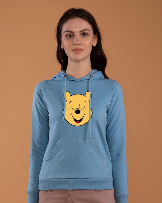 Shop Happy Pooh Fleece Hoodies (DL)-Front