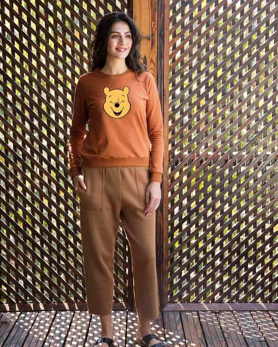 Shop Happy Pooh (DL) Fleece Light Sweatshirt-Design