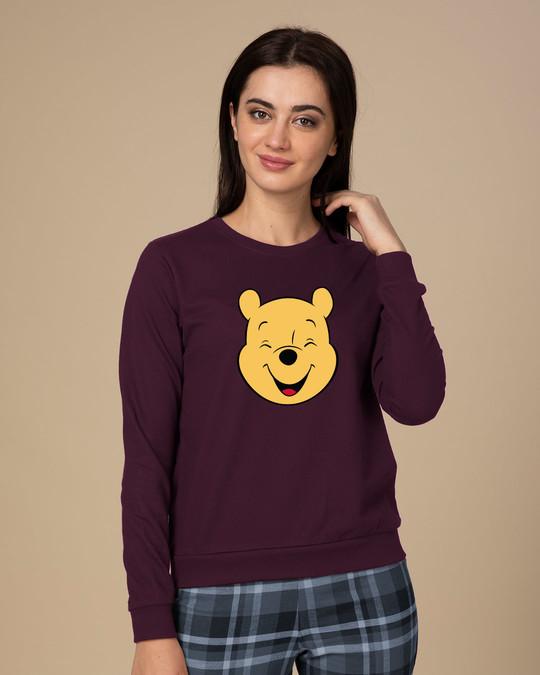 Shop Happy Pooh (DL) Fleece Sweater-Front