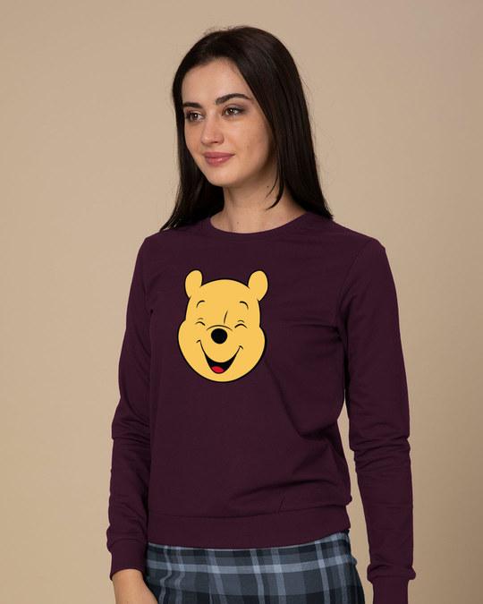 Shop Happy Pooh (DL) Fleece Sweater-Back