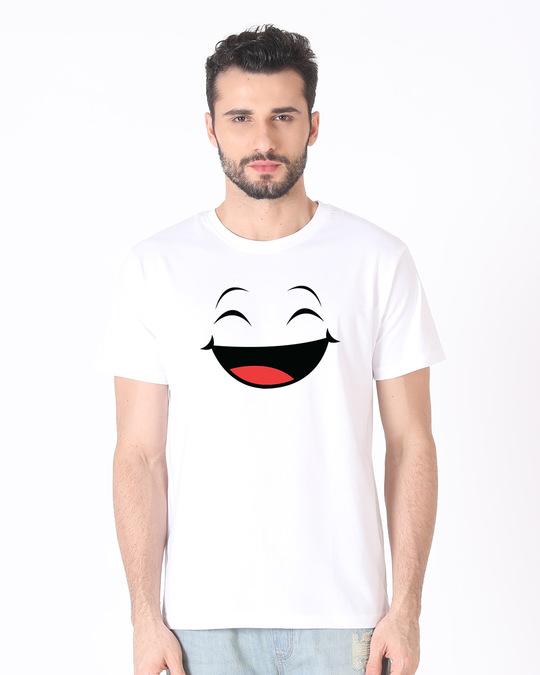 Shop Happy Shappy Half Sleeve T-Shirt-Back