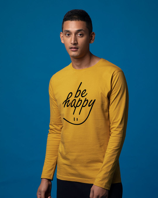 Shop Happy Smiley Full Sleeve T-Shirt-Back
