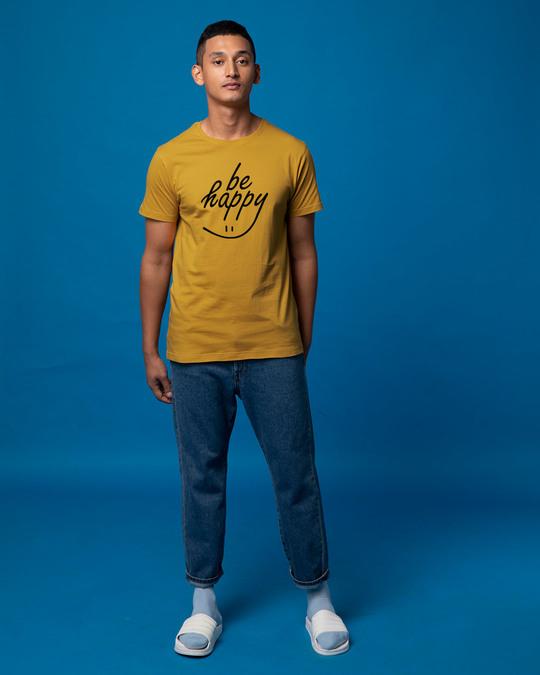 Shop Happy Smiley Half Sleeve T-Shirt