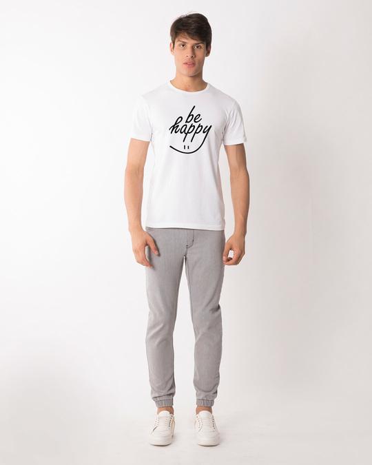 Shop Happy Smiley Half Sleeve T-Shirt-Full
