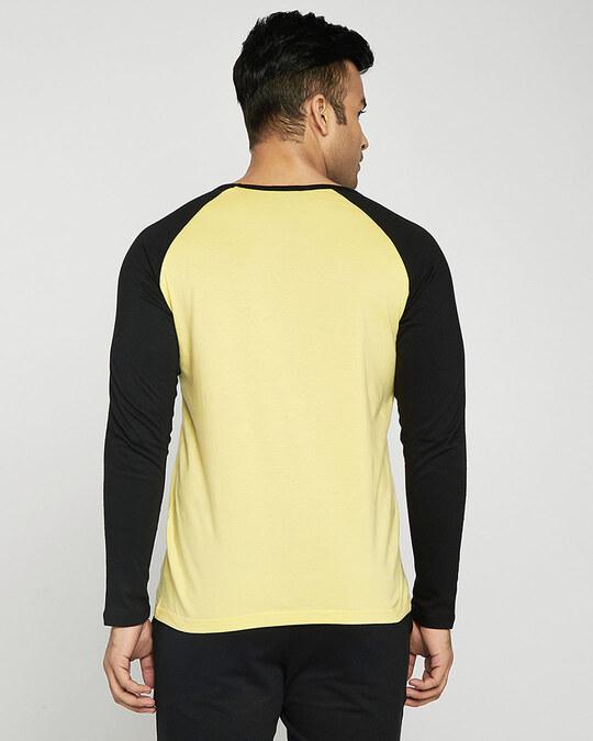 Shop Happy Yellow Full Sleeve Raglan T-Shirt-Design
