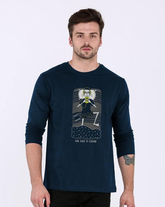 Shop Har Raat Ki Kahaani Full Sleeve T-Shirt-Back